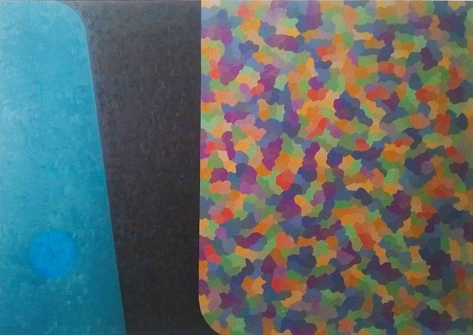 Cores, formas e coloridos - 70 x 100 cm - 2017